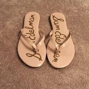 Sam Edelman blush patent thong sandals